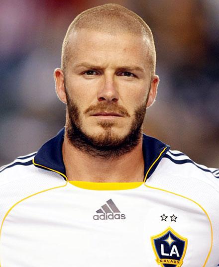 David Beckham sports a weird beard